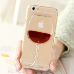 Coque iPhone verre de vin